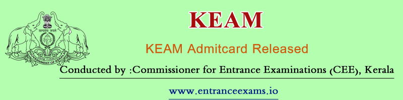 Kerala CEE Hall Ticket/Admit Card 2017 | Downloading Process