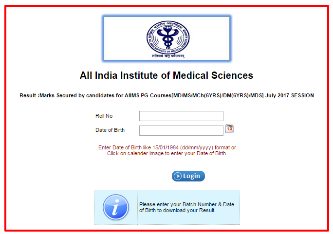 AIIMS PG Results 2021 (July Session) | AIIMS MD/MS/MCh(6yrs)/DM(6yrs) Merit List Pdf