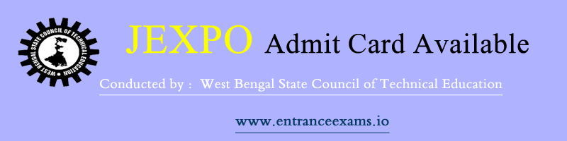JEXPO VOCLET Admit Card 2020 Download   WB JEXPO Admit Card   webscte.co.in JEXPO Hall Ticket