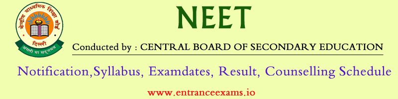 NEET 2020 Exam: Notification, Online Application, Syllabus & Test Pattern, Result, Web Counselling