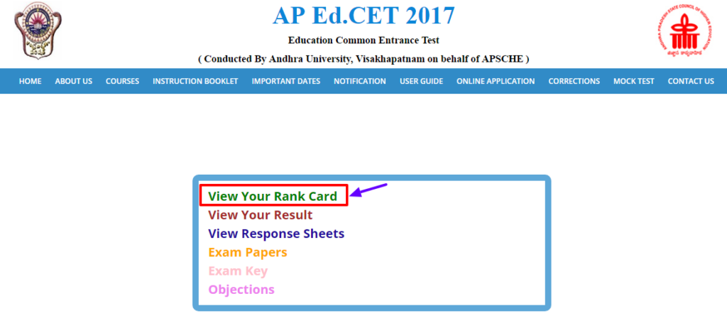 AP EDCET Rank Card 2017 Released | Andhra Pradesh EdCET Score Card 2017