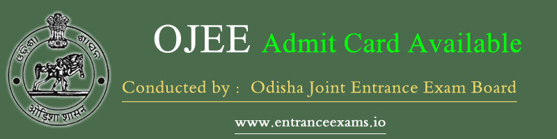 OJEE Admit Card 2020 Download Steps | Odisha JEE 2020 Hall Ticket @ ojee.nic.in