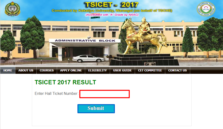 TS ICET Result 2017   Check Telangana ICET Results, Rank Card @ icet.tsche.ac.in