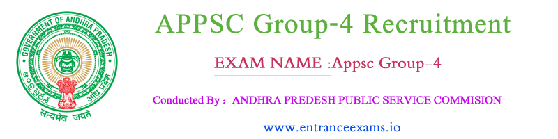 APPSC Group 4 Notification 2017 18 | Apply Online for Andhra Pradesh Group 4 Jobs   psc.ap.gov.in