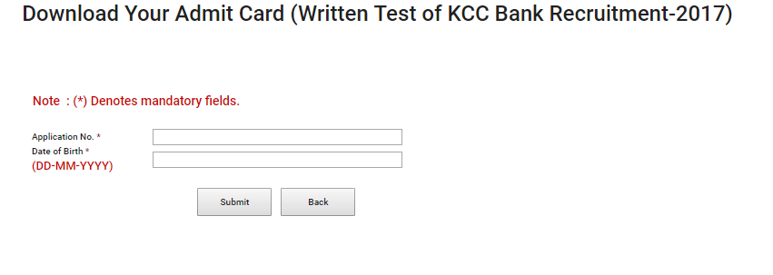 Download KCC Bank Admit Card 2017 | KCCB Clerk & Officer Grade IV Exam Hall Ticket @ www.kccb.in