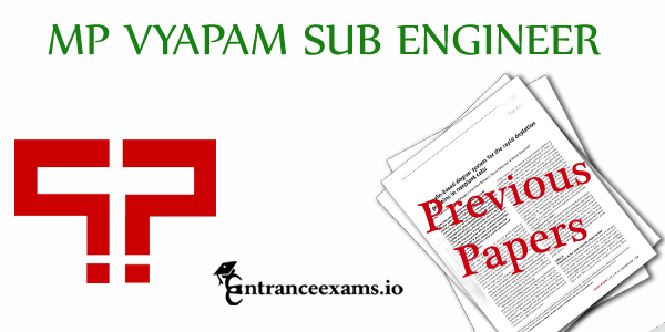 MP Vyapam Sub Engineer Previous Paper PDF   Download Vyapam SE Exam Solved Paper