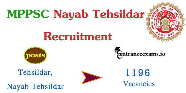 MPPSC Tehsildar, Nayab Tehsildar Recruitment 2017 | Apply for mppsc.nic.in Tehsildar Vacancies