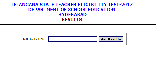 Telangana Teacher Eligibility Test Result 2017  TS TET Exam Merit List