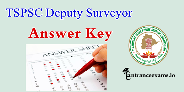 TS PSC Revenue Department Deputy Surveyor Exam Answer Key 2017 Pdf Download @ www.tspsc.gov.in