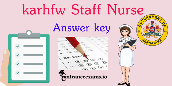 Karnataka HFW Answer Key 2017   KARHFW Paramedical Exam Key
