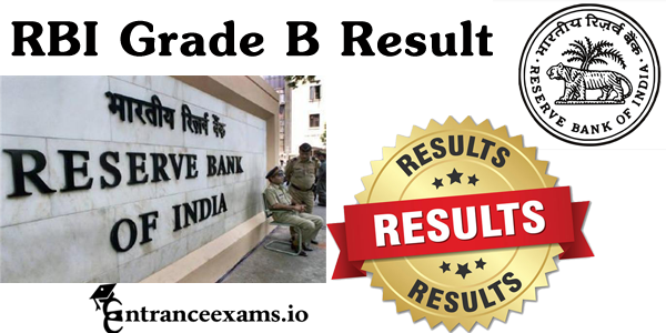 RBI Grade B Officer Results 2017 | RBI Grade B Phase 1 & 2 Result @ rbi.org.in