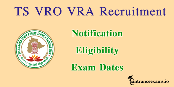 TS VRO VRA Notification ts 1506 Revenue Dept Jobs tspsc gov in apply