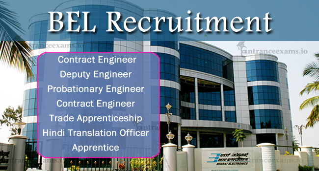 BEL Recruitment 2017 for Engineers | 282 Latest Asst Engineer & Contract Engineer Vacancies in BEL
