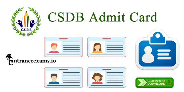 CSDB Primary Teacher Clerk Admit Card 2017   CSDB Exam Hall Ticket 2017