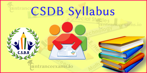 Central School Development Board Syllabus 2017 | CSDB Teacher Test Pattern   csdbexam.com