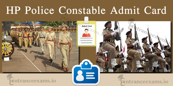 Himachal Pradesh Police Constable Admit Card 2017   HP Police Exam Hall Ticket