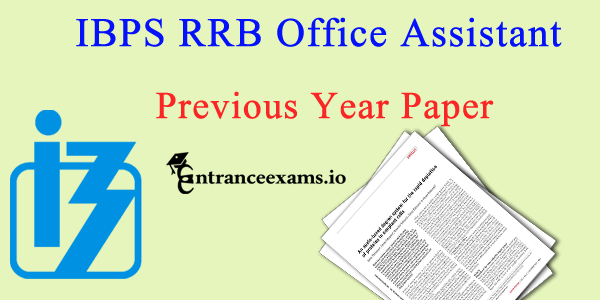 IBPS RRB Office Assistant Previous Papers Pdf   IBPS RRB CWE VI Clerk Question Papers