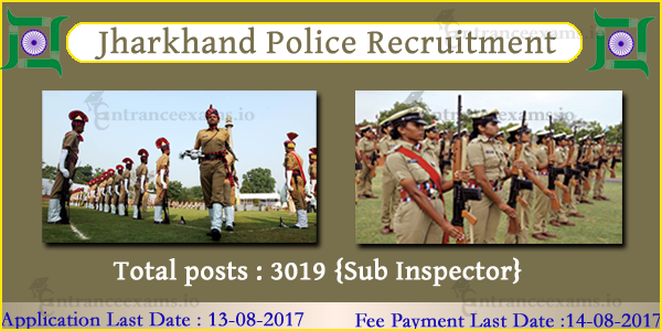 Jharkhand Police Recruitment 2017   8065 Jharkhand SSC Constable, SI, Radio Operator Posts