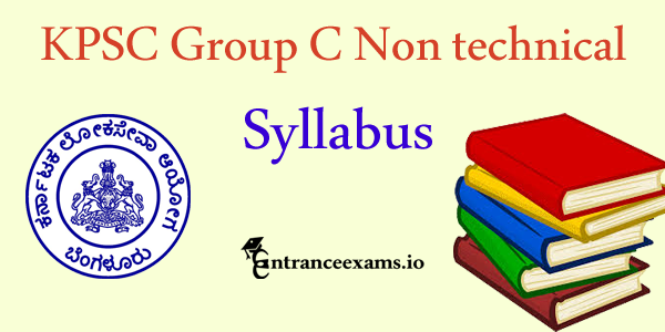 KPSC Group C Syllabus 2017   KPSC Group B & C Non Technical Syllabus