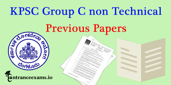KPSC Group C Non Technical Model Question Papers Pdf download @ kpsc.kar.nic.in