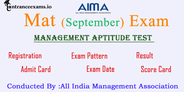 MAT 2017 (September): Registration, Admit Card, Exam Date, Syllabus, Result, Score Card @ aims.in