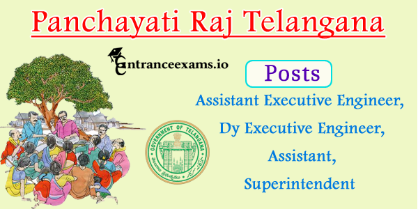 Telangana Panchayati Raj Recruitment 2017   480 AEE, Executive Engineer, Jr Asst Posts