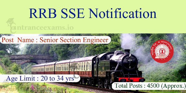 RRB SSE Recruitment 2017   www.indianrailways.gov.in 4500 Senior Section Engineer Jobs