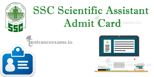 SSC IMD Scientific Assistant Admit Card 2017   Download SSC SA Exam Hall Ticket @ www.ssc.nic.in