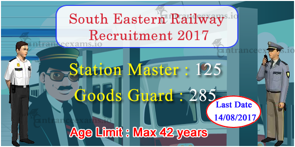 SER Recruitment 2017 | Apply 410 Station Master Goods Guard South Eastern Railway Jobs