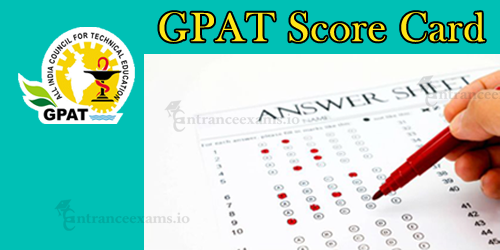 GPAT Score Card 2020 | Download AICTE GPAT Score card & Merit List @ aicte gpat.in