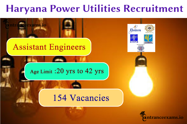 Haryana Power Utilities Recruitment 2017   Apply 154 HVPNL Assistant Engineer Vacancies