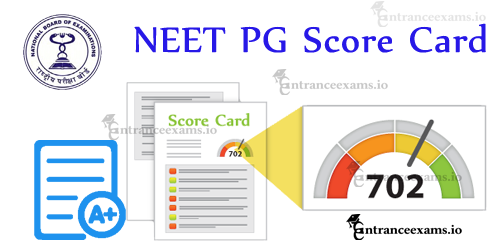 NEET PG Score Card 2018 Download @ nbe.edu.in