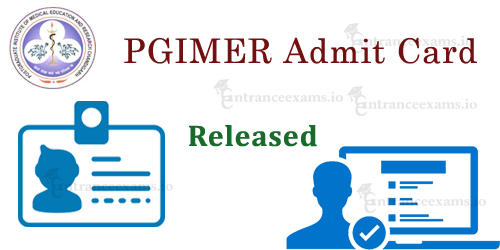 PGIMER Admit Card 2020 | PGI Admit card download @ pgimer.edu.in