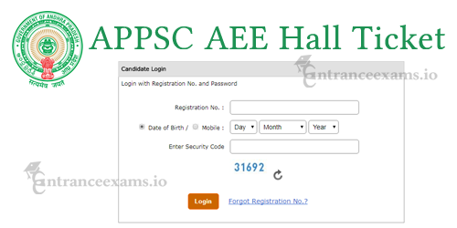 APPSC AEE Hall Ticket 2017 | APPSC Asst Executive Engg Exam Admit Card @ psc.ap.gov.in