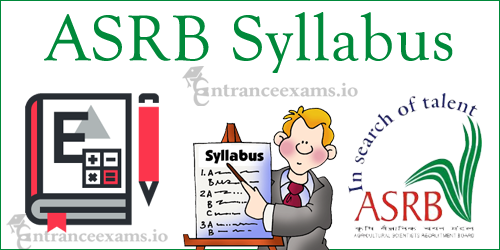 Agricultural Scientist Stenographer Syllabus | ICAR ASRB Scientist Syllabus