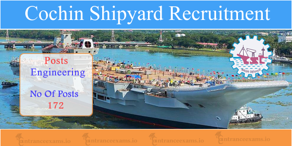 Cochin Shipyard Apprentice Recruitment 2017   Apply Online for 172 Cochin Shipyard Jobs