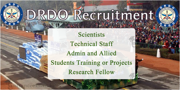 DRDO Upcoming Notification 2017 2018 | Current Recruitment in DRDO @ drdo.gov.in