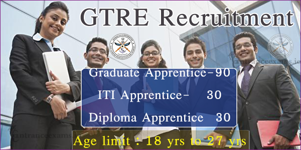 GTRE DRDO Apprentice Trainee Recruitment 2017 | 150 Apprentice Jobs in GTRE