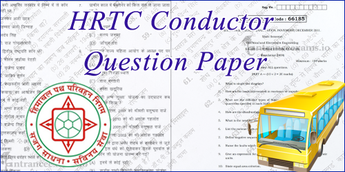 HRTC Conductor Previous Question Paper | Transport Multi Purpose Assistant Model Papers