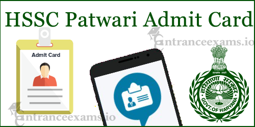 HSSC Admit Card for Patwari 2017 | Download Haryana Tehsil Patwari Exam Call Letter