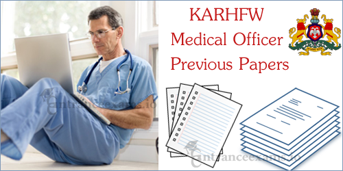 KARHFW Senior Medical Officer Previous Year Papers   KARHFW GDMO Model Papers