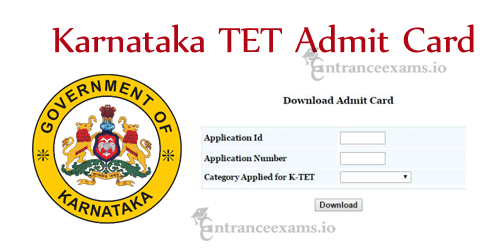 Karnataka TET Admit Card 2017 | KarTET Graduate Primary Teacher Exam Date