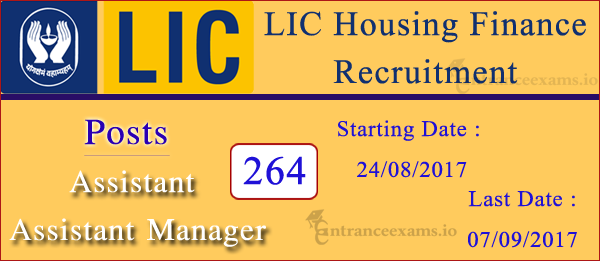 LIC HFL Recruitment 2017 Apply Online for 264 Assistant, Assistant Manager Posts @ www.lichousing.com