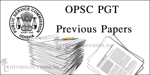 Download OPSC PGT Previous Year Question Papers PDF | opsc.gov.in Teacher Solved Papers
