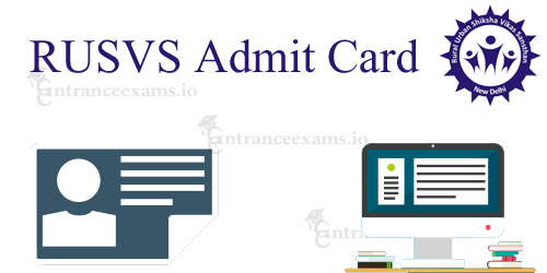 RUSVS Project Relation Assistant Admit Card 2017   Download RUSVS PRA Manager Hall Ticket