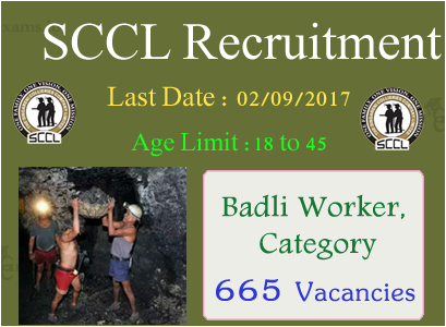 Singareni Collieries Management Trainee Recruitment 2017   1415 SCCL Mines Badli, MT, ITI Trainee Jobs