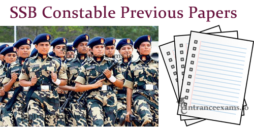 SSB Constable Previous Year Papers | Sashastra Seema Bal GD Constable Model Papers
