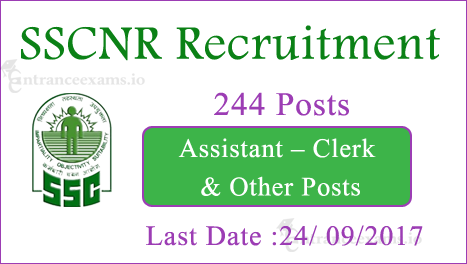 Latest SSC NR Jobs 2017 | Apply Online for 244 SSC NR Scientific Assistant Recruitment 2017