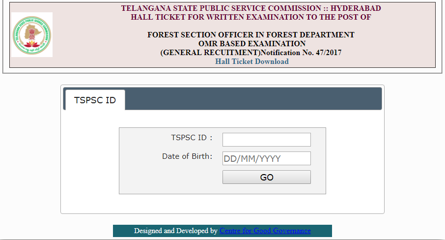 TS Forest Department Admit Card 2017 | Download TSPSC FABO, FBO, FRO & FSO Hall Ticket