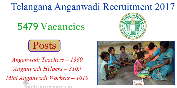 WDCW Telangana Anganwadi Notification 2017 | 5479 wdcw.tg.nic.in Anganwadi Teacher, Worker, Helper Jobs